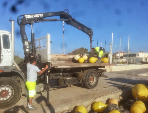 Installation de balisage en mer – Travaux maritimes à Sète