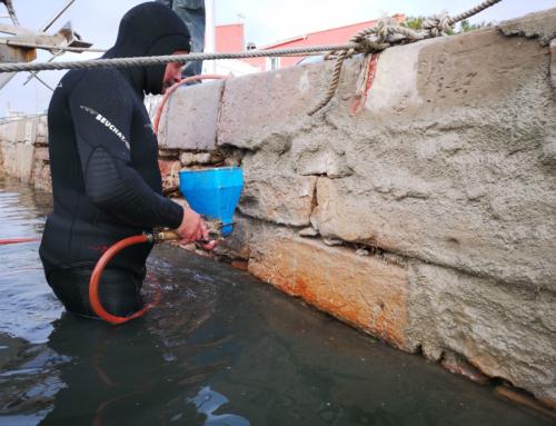 Refaçonnage d'un quai à Mèze – Travaux sous-marins