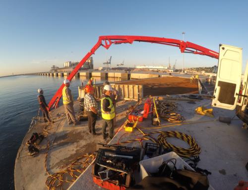 Entreprise de travaux subaquatiques à Sète : Le coulage béton