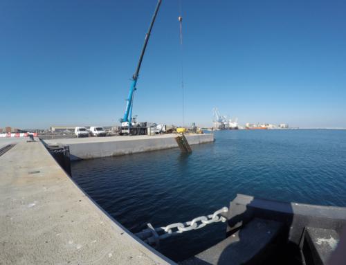 Matériel de levage pour travaux maritimes à Sète