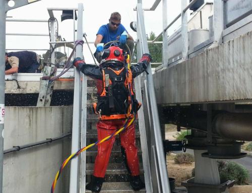 Maintenance de station d'épuration – travaux spéciaux en milieux confinés