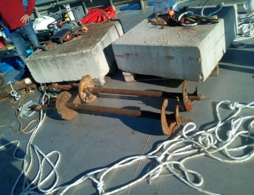 Fabrication de corps mort & ligne de mouillage. Entreprise dans l'Hérault
